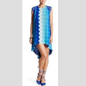 Dress the Population Camila Crochet Shoulder Dress
